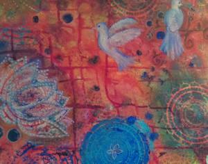 lotus mandala birds